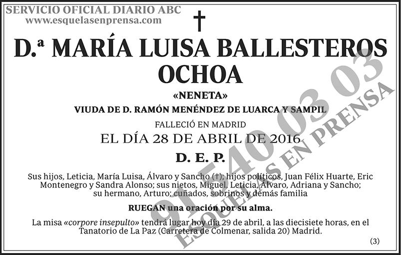 María Luisa Ballesteros Ochoa